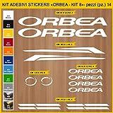 Adesivi Bici ORBEA - KIT 8- Kit adesivi stickers 14 Pezzi -SCEGLI SUBITO COLORE- bike cycle pegatina Cod.0937 (010 BIANCO)