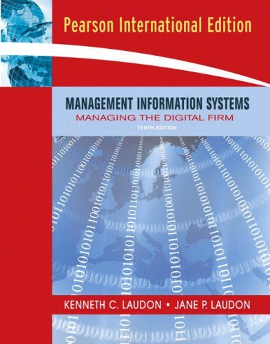 Management Information Systems: Managing the Digital Firm by Jane P. Laudon (2006-12-01)