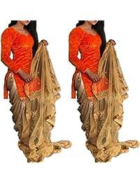 Velvet Self Design Patiala Suit Dupatta Material