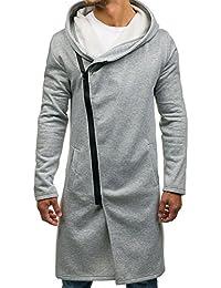 BOLF Men's Longline Hoodie Casual Zip [1A1]