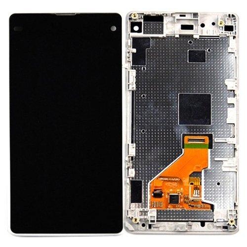 Luci di alta qualità, IPartsBuy LCD Display + Touchscreen Digitizer Assembly mit Rahmen Ersatz für Sony Xperia Z1 Compact ( Farbe : Weiß ) -