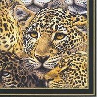 IHR leopard cheetah wildlife mystery luxury traditional english paper napkins 20 new