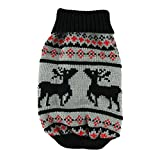 Mode Häkeln Hund Pullover Weihnachten Haustier Welpen warmen Sweatshirt Kleidung