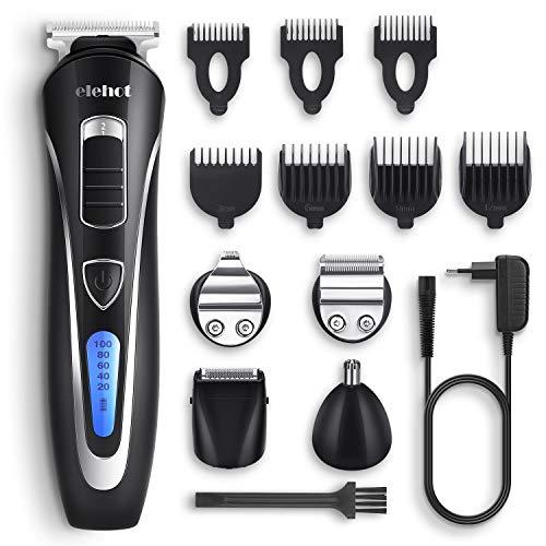 12 in 1 Haarschneidemaschine Set rasierer Herren elektrisch barttrimmer Haarschneider Haartrimmer nass trocken Bodygroomer Kit - Verpackung MEHRWEG von ELEHOT