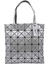 ea510dd59 La bolsa de asas geométrica del enrejado, bolso de hombro casual de la moda  de