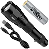 Lite Xpress DP-025USB-C Power Lampe torche avec batterie lithium-ion rechargeable USB 500 lumens