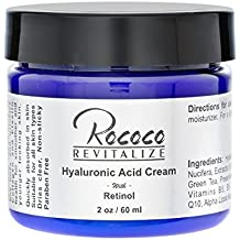 Rococo Revitalize Hyaluronic Acid with Vitamin A Anti Aging Wrinkle Filler Retinol Cream - 2 Oz