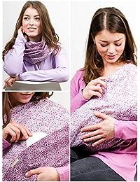 """L'écharpe-tube d'allaitement """"Purple me"""" avec petites poches pour coussinetsd'allaitement. L-XL"""