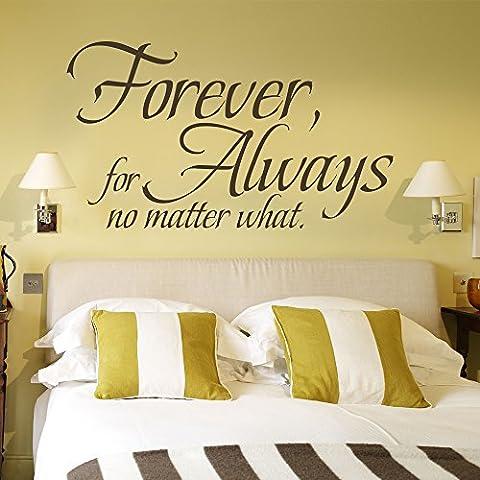 Forever pour toujours Quel que soit famille mural en vinyle citation Christian mur Décoration lettres Home Art, Vinyle, Blanc, 27