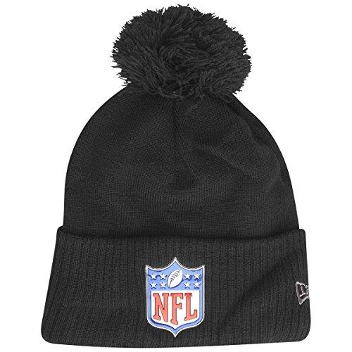 New Era Fleece Bobble Winter Mütze - NFL Shield schwarz