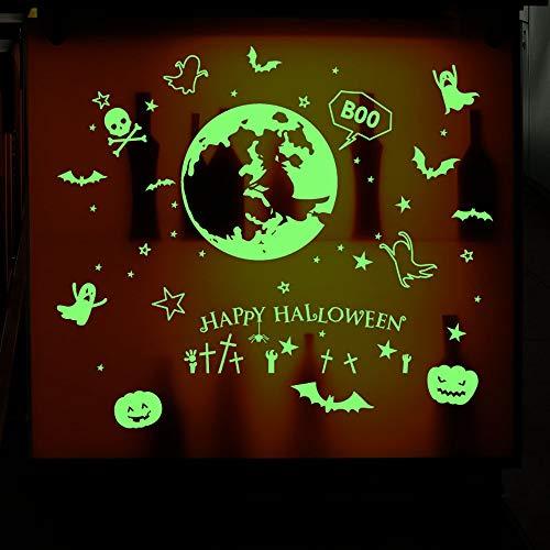 EXQULEG Halloween Aufkleber, Glasaufkleber abnehmbar Fenster Aufkleber Umweltschutz Persönlichkeit kreative Etikett (D)