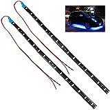 Trixes - 2x bandes de 15 LED SMD intérieur/extérieur pour voiture