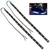 TRIXES Striscia di 15 luci LED SMD diurne luminose per interno/esterno auto x 2