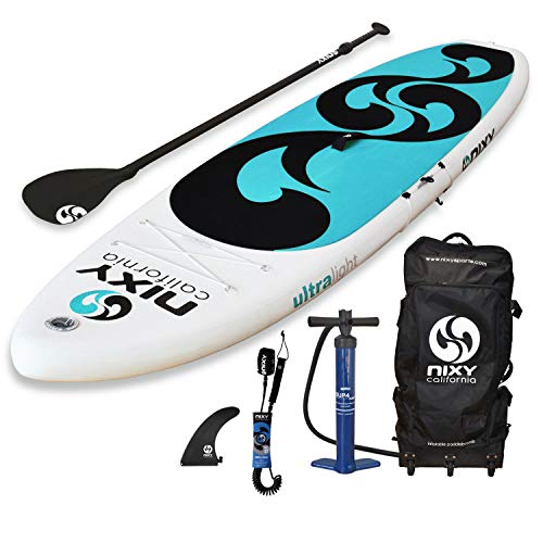 NIXY Beginners and Yoga Inflatable Stand Up Paddle Board. Ultra Light 10'6...