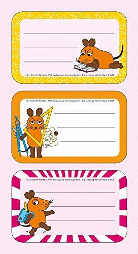 Süße Schuletiketten mit der Maus - Aufkleber - Etiketten - Die Sendung mit der Maus - Heftbeschriftung