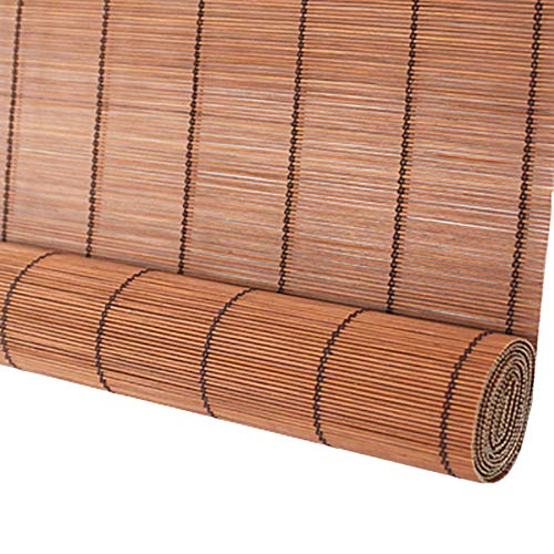 Estor enrollable YXX Cortinas enrollables de bambú para el Exterior de Windows - Persianas enrollables de Madera con Cenefa de Ola para jardín Patio Galería Balcón (Size : 120cmx180cm)