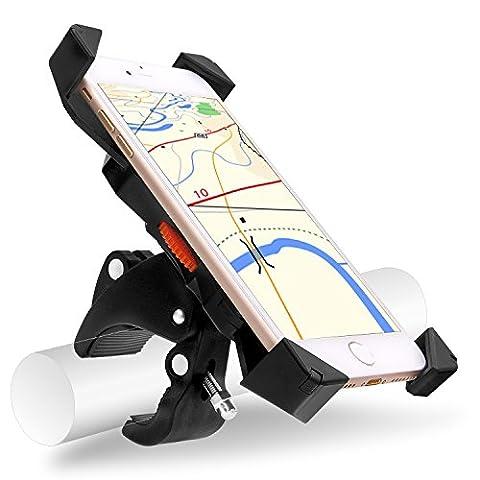 Universal Fahrrad Handyhalterung, Migimi 360 Grad drehbaren Smartphone Handyhalter Fahrrad Verstellbar für iPhone 7/7plus, Samsung Galaxy S7/S7 Edge, Blackberry/HTC/GPS, Kompatibel mit Allen 3,5-Zoll, 7-Zoll-Handy, GPS oder andere