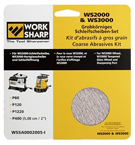 WORKSHARP Ersatz-Schleifblätter Set grob (Sharp 3000 Work)