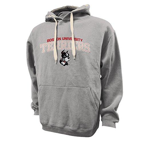 Ouray Sportswear NCAA Benchmark Color Block Kapuzenpullover, Premium Heather, 2X Boston Terrier Sweatshirt
