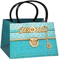 77efea94c9ac7 Unbekannt 3-D Effekt   Geschenktasche   Geschenkbeutel - Clutch - Damen  Handtasche - blau