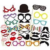 32 PCS Photo Booth Props Accessori labbra con Stick giocattolo per Matrimonio Compleanno Festa Gesso Lavagna Scrivi sulla