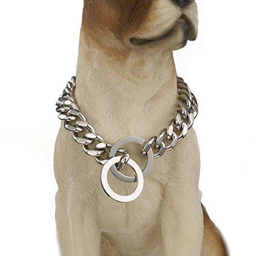 Granny Chic Stark Hundehalsband Edelstahl Pet Kette Halskette 12mm 15mm Breite, 26