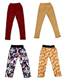 #5: Indiweaves Girl's Cotton Pants and Lower Pajama Track Pants Combo (Pack of 4)
