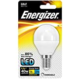 Energizer LED ~ Dimmable ~ 6.2w=40w ~ Small Edison Screw Cap (SES E14) ~ A+ Rated Energy Saving ~ Golf Ball Shape ~ Light Bulb ~