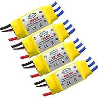 LHI 30a Brushless Regler ESC Multicopter Kk Quadrocopter (Packung mit 4 Stück) (Black)() (Yellow)