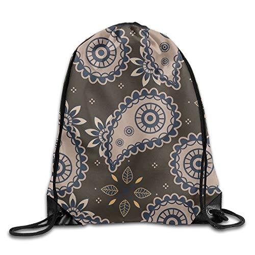 htrewtregregre Ornament Of Cashmere Seamless Pattern Drawstring Rucksack Beam Mouth Sports Sackpack Shoulder Taschen For Men & Women - Cashmere-falten Anzug