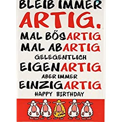 """XXL Geburtstagskarte """"Einzigartig"""" + Umschlag"""