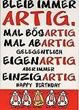 XXL Geburtstagskarte 'Einzigartig' + Umschlag