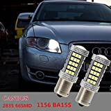 FEZZ Auto LED Birnen S25 BA15S 1156 2835 66SMD CANBUS DRL Tagfahrleuchten Tagfahrlicht für Audi Seat Volkswagen Skoda Renault