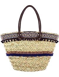 Ideal Shoes - Panier de plage style ethnique Marnia