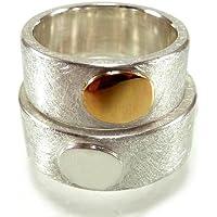 Trauringe, Eheringe, Freundschaftsringe in Silber mit Roségold 18 Karat und Gravur - handgefertigt by SILVERLOUNGE