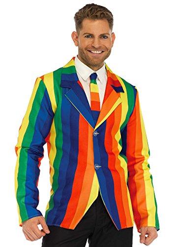 Leg Avenue LO85651 Rainbow Clown Suit Kostüm, Vielfarbig, Medium (EUR 38) (Leg Avenue Clown Kostüm)