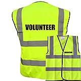 Best Volunteer - Printed Yellow Hi Vis Vest VOLUNTEER Waistcoat Safety Review