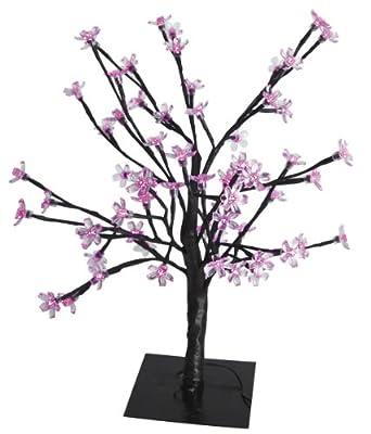 Heitronic LED beleuchteter Kirschbaum 45 cm hoch mit 48 LED (schwarz) von HEITRONIC bei Lampenhans.de