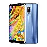 Homtom S8 Smartphone déverrouillé avec écran de 5,7 pouces téléphone mobile libre (64G de Rom, 4 g de ram, Android 7.0, caméra frontale 13 MP et caméra arrière de 16 MP + 5 MP, charge rapide) (Bleu)