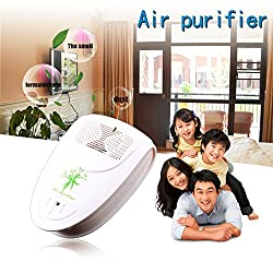 Generic White : Mini Indoor Oxygen Bar Ionizer Air Fresh Purifier Home Wall 110/220V With Adapter Home Autocar Negative Ion Purifier