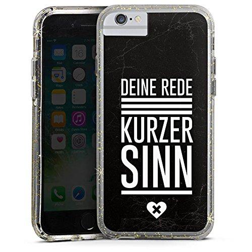 Apple iPhone 8 Bumper Hülle Bumper Case Glitzer Hülle Vie Leben Life Bumper Case Glitzer gold