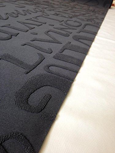 Tappeto cucina 67 X 200 living design scritte nero grigio lavabile ...