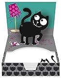 moses. 27451 Ed, The Cat Pop-Up-Zettelbox, 120 Blätter, Notizzettel
