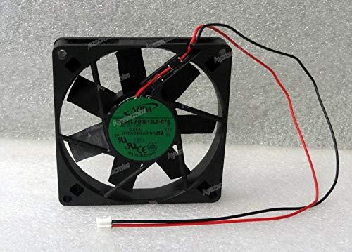 Ayazscmbs Kühler Lüfter kompatibe für ADDA 80mm x 15mm Slim Quiet Lüfter Mini 2 Pin PH 2.0 Hypro Bearing AD0812LX-D70 -