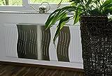 Revêtement Radiateur Acier inoxydable, 62x 60cm Design: Wave, mat (marque: Szagato) (heizkörperabdeckung Cache pour radiateur chauffage Revêtement)