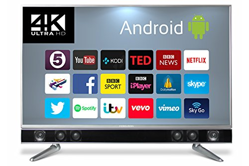 Ferguson FP50ANSMT-4K 50-Inch Android Smart 4K UHD TV with Integrated Soundbar - Black