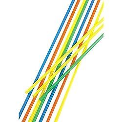 100 Trinkhalme, Maxi, Ballerman-Trinkhalm, Sangria-Trinkhalm, Ø 6,5 mm, 75 cm, farbig sortiert, Papstar 11700