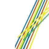 100 Trinkhalme, Maxi, Ballerman-Trinkhalm, Ø 6,5 mm, 75 cm, farbig sortiert, Papstar 11700