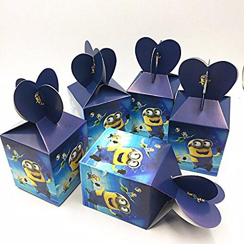 cs/set Schergen Partei liefert Papier Candy Box Cartoon Kinder Geburtstag Dekoration Baby Jungen Partei liefert Candy Boxen ()