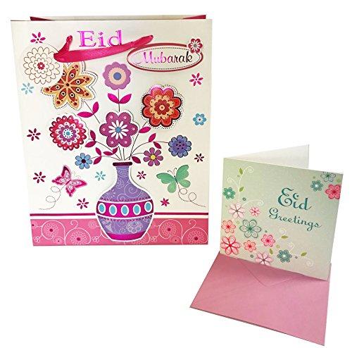 Eid Mubarak Grußkarten-Set mit 3d-Muslim Islamischen Ramadan